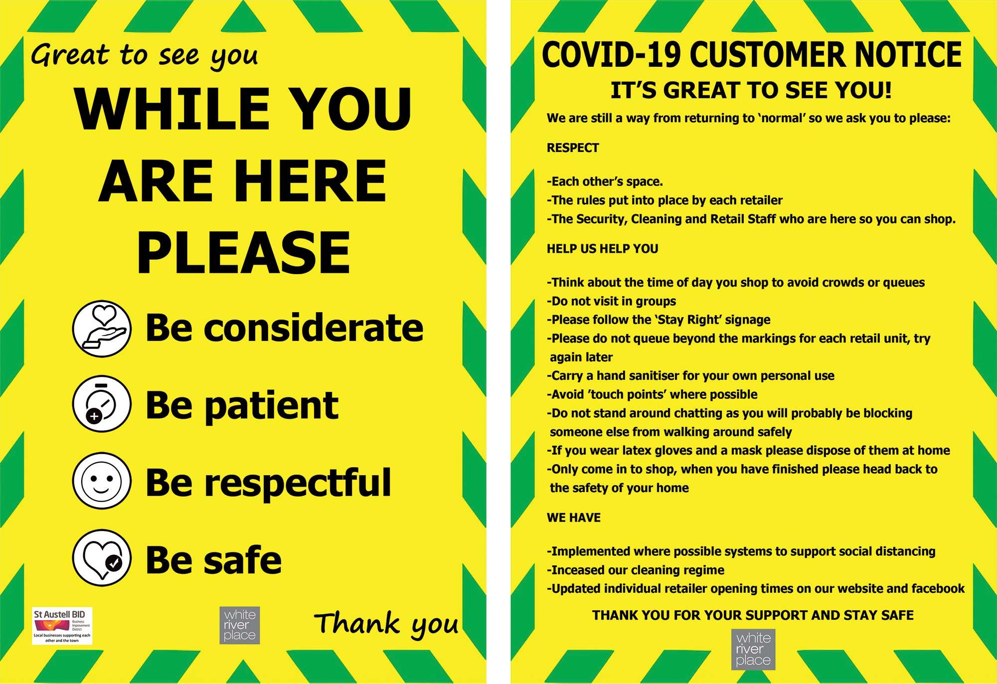 Covi-19 Signage